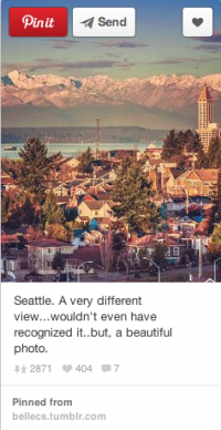 This pin, from sapphireskies25, was the second most popular Seattle related pin of 2013.