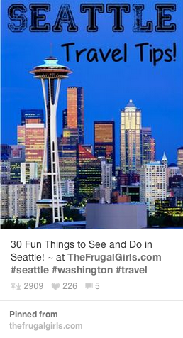 This pin from frugalgirls was the most popular Seattle related pin of 2013, according to analytics from Tailwind.