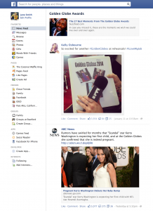 An example of a trending topic page on Facebook. (Click to Enlarge)