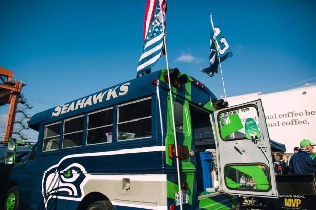 Bussell Wilson. Photo courtesy of Jeff Fiechtner/Seattle Seahawks.