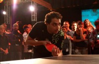 Avi Cavale of Shippable was last year's GeekWire ping pong champ