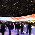 Sony's gigantic booth at CES.