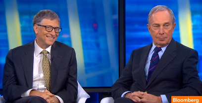 Bill Gates and Michael Bloomberg