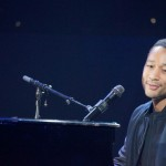 John Legend performs at Yahoo's keynote at CES.