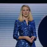 Yahoo CEO Marissa Mayer speaks at Yahoo's keynote at CES 2014.
