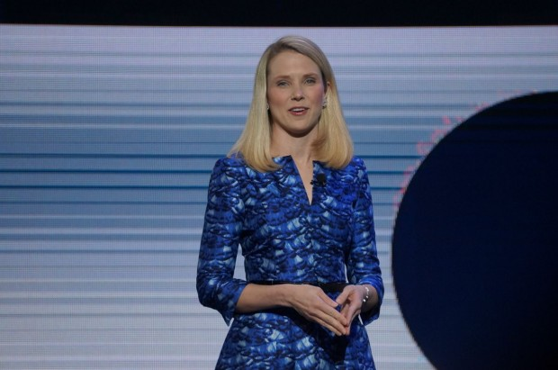 Yahoo CEO Marissa Mayer at CES. (GeekWire File Photo)
