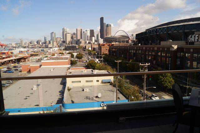 The view from RealNetworks' new office in Seattle's SoDo neighborhood.