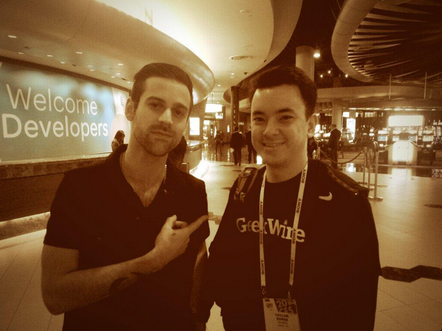 My CES celebrity moment with Seattle's own Ryan Lewis.