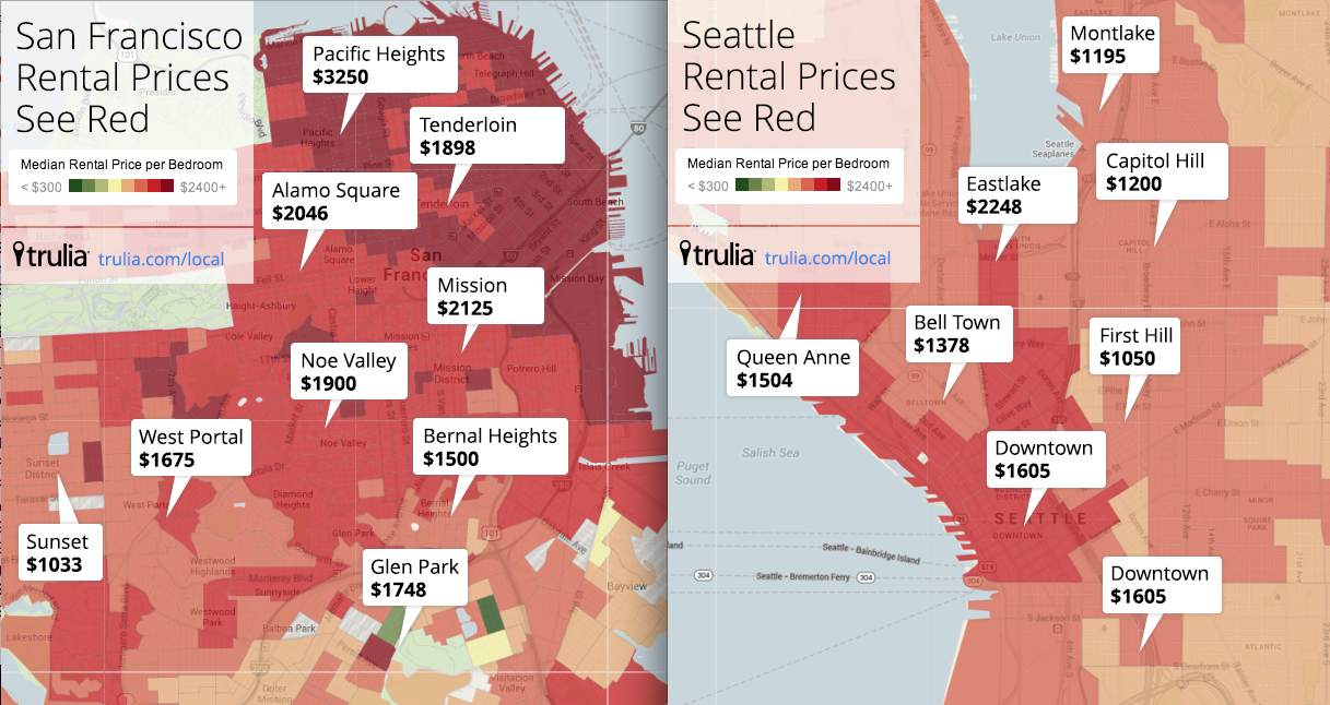Red Hot Rentals: Seattleu0027s South Lake Union Now More Expensive Than Some  San Francisco Neighborhoods