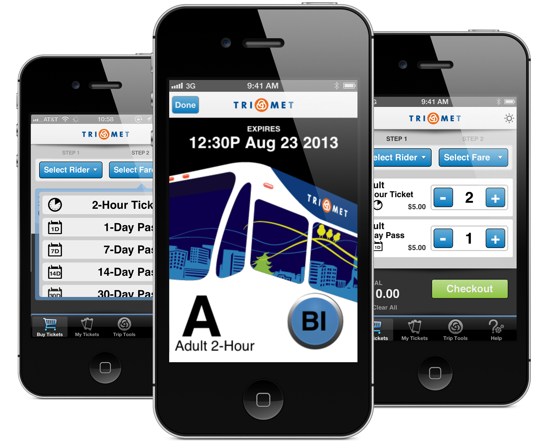 Mobile ticketing service application in public