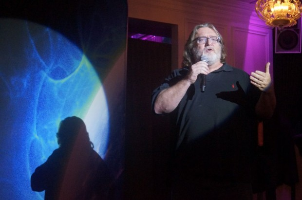Valve's Gabe Newell at the Consumer Electronics Show last year.