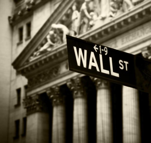 Wall Street photo via Shutterstock