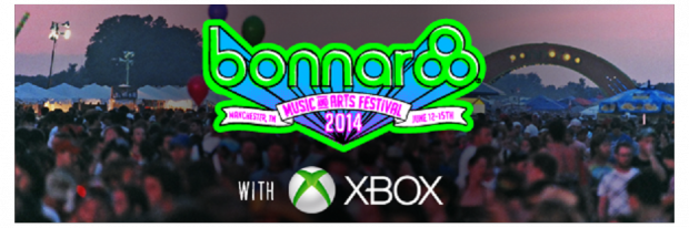 The Bonnaroo 2014 and Xbox logos