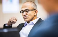 Nadella at work. (Microsoft File Photo)