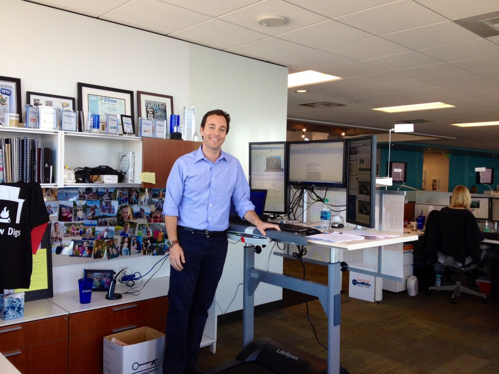 Zillow CEO Spencer Rascoff at his work station in the Russell Investment Center.