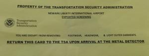 TSA paper worth handling