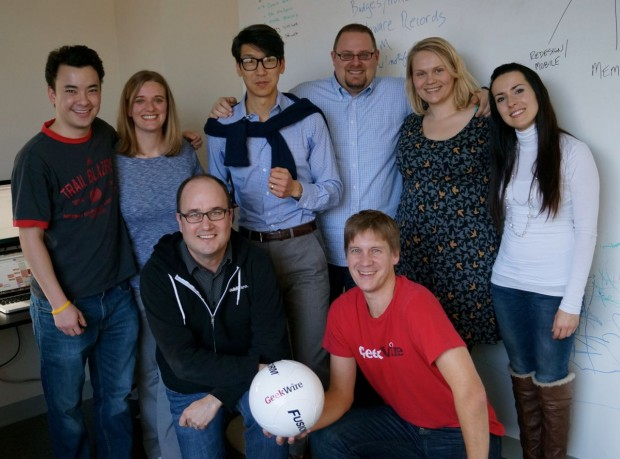 The GeekWire team at our offices in Fremont.