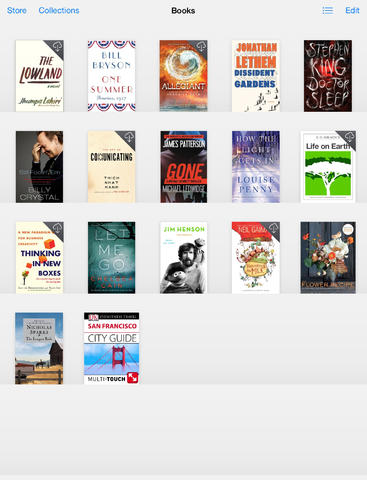 A screenshot of iBooks on the iPad