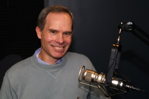Matt McIlwain in the KIRO Radio studios. (Photo: Erynn Rose.)