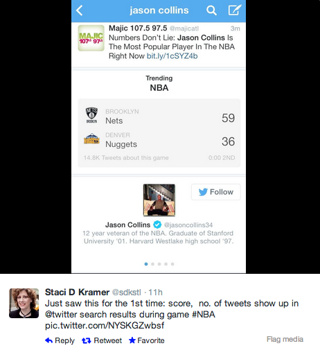 Twitter app now shows live sports scores, tweet stats for