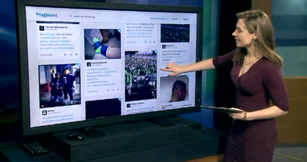 Jenni using Tagboard on Q13