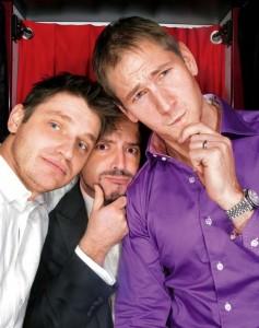 PopCap co-founders, from left, John Vechey, Jason Kapalka, and Brian Fiete in 2009.