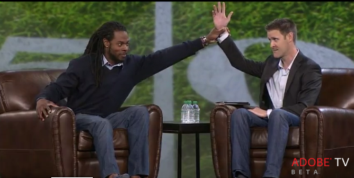 Richard Sherman gave a keynote at an Adobe marketing conference earlier this year.