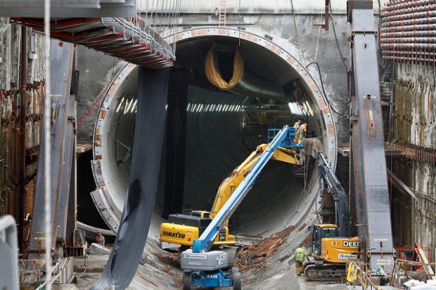 bertha delayed  world u2019s largest tunnel boring machine won