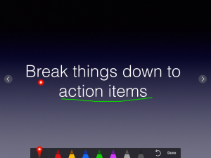 Keynote's new highlighter feature