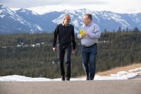 Microsoft CEO Satya Nadella and former Nokia CEO Stephen Elop. (Microsoft File Photo)