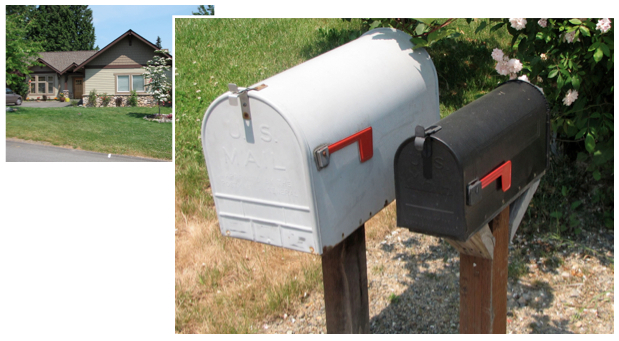 The Amazon birthplace in a Bellevue home. The oversized mailbox was used by Jeff Bezos to get large book catalogs.