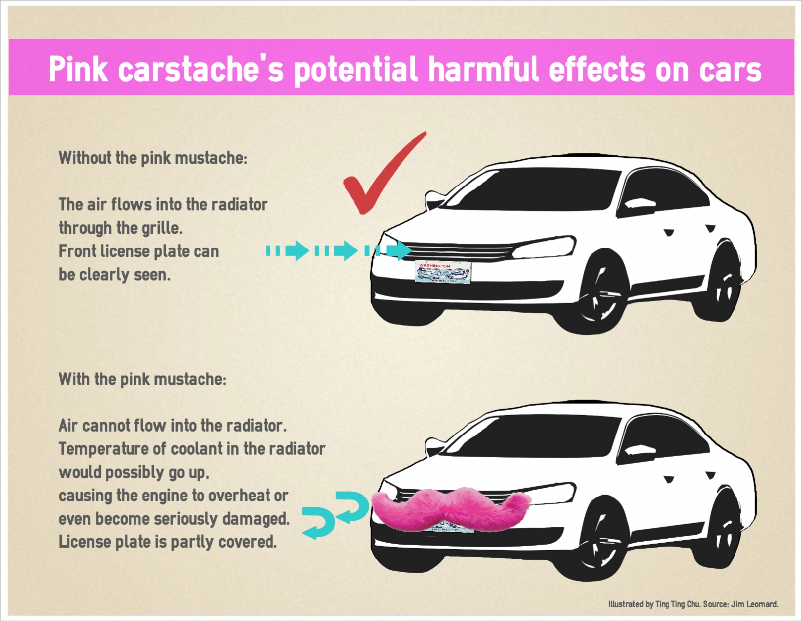 Lyft Car Requirements >> Automotive Expert Lyft S Pink Mustache Could Damage Cars