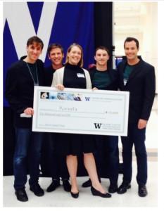 Korvata won $10,000 in the 2014 University of Washington Environmental Innovation Challenge .