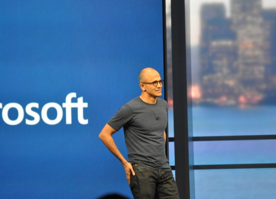 Satya Nadella at the Build conference