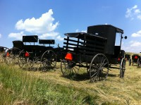 An Amish scene in rural Ohio.