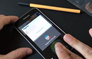 PayPal being used on the Samsung Galaxy S5.