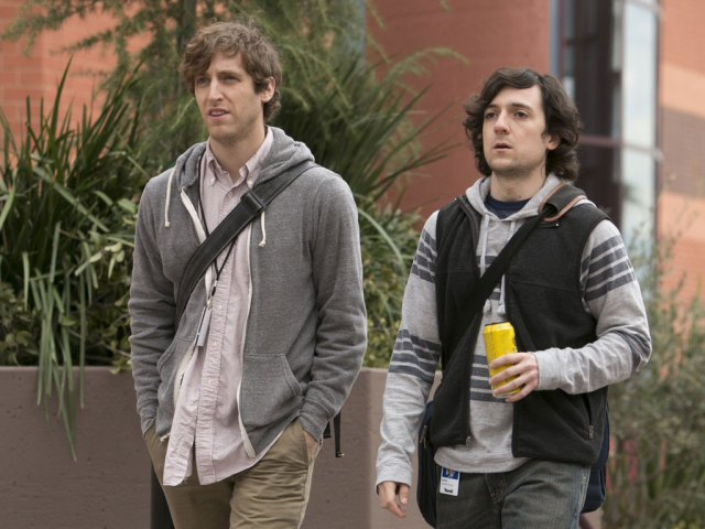 "Thomas Middleditch and Josh Brener in HBO's ""Silicon Valley."" (Jaimie Trueblood/HBO)"
