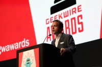 Zillow CEO Spencer Rascoff delivers the keynote at the GeekWire Awards.