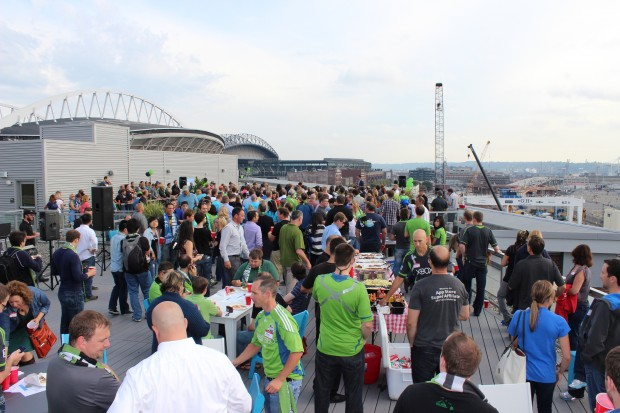 The rooftop deck of EMC/Isilon will once again be the scene for Sounders Day,