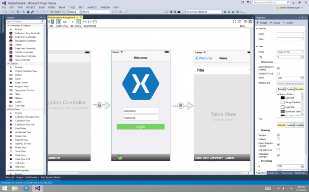 Xamarin Designer for iOS_Visual Studio