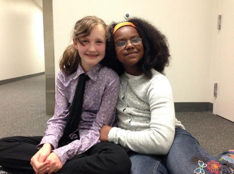 Fiona Brennan (left) and Semira Lacet-Brown (right). Photo by Rebecca Yeung.