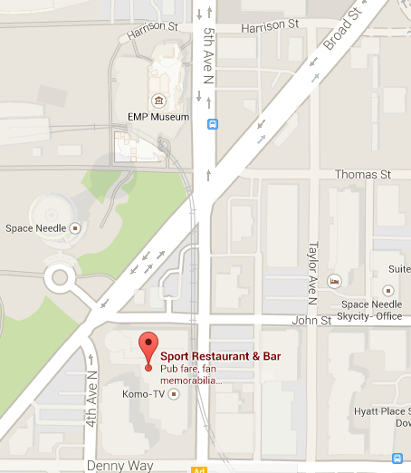 The GeekWire Awards after party at Sport restaurant & bar is just a few blocks away from the EMP Museum
