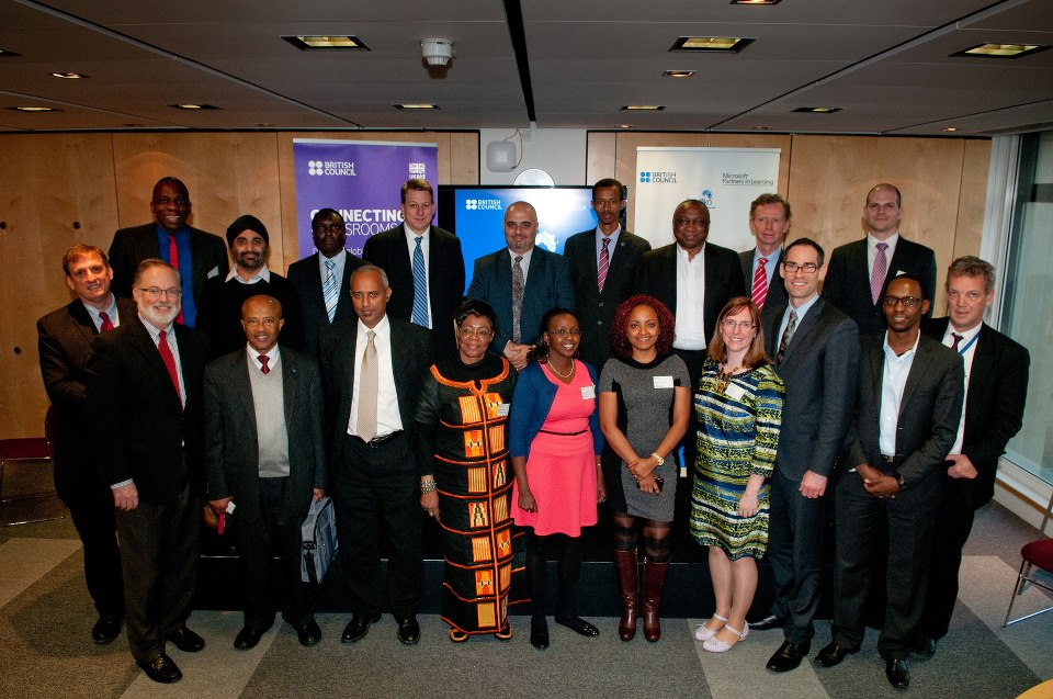 GreenBridge CEO David Yunger with education leaders from Kenya, Ethiopia, Nigeria, British Council, and Microsoft.