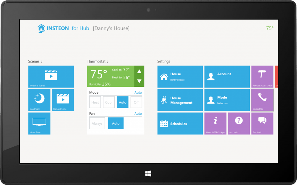 Windows 8 Moves Into Home Automation With New Insteon Apps