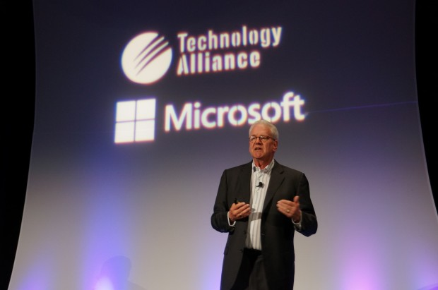 Geoffrey Moore at the Technology Alliance luncheon.
