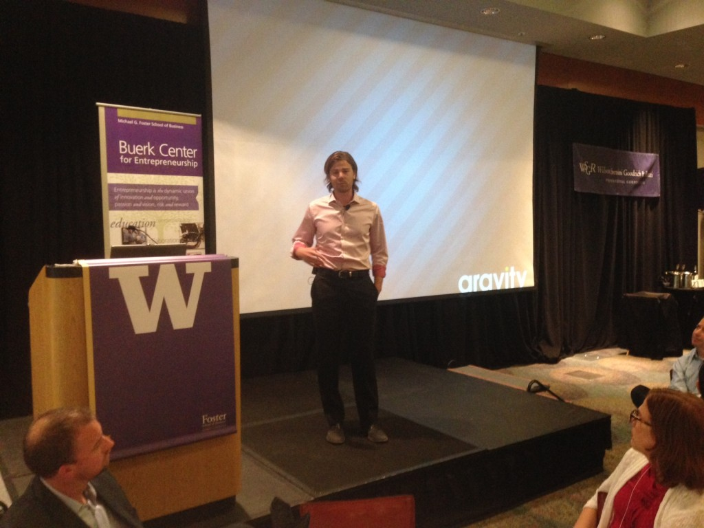 Gravity Payments CEO Dan Price speaks at the UW Business Plan Competition.