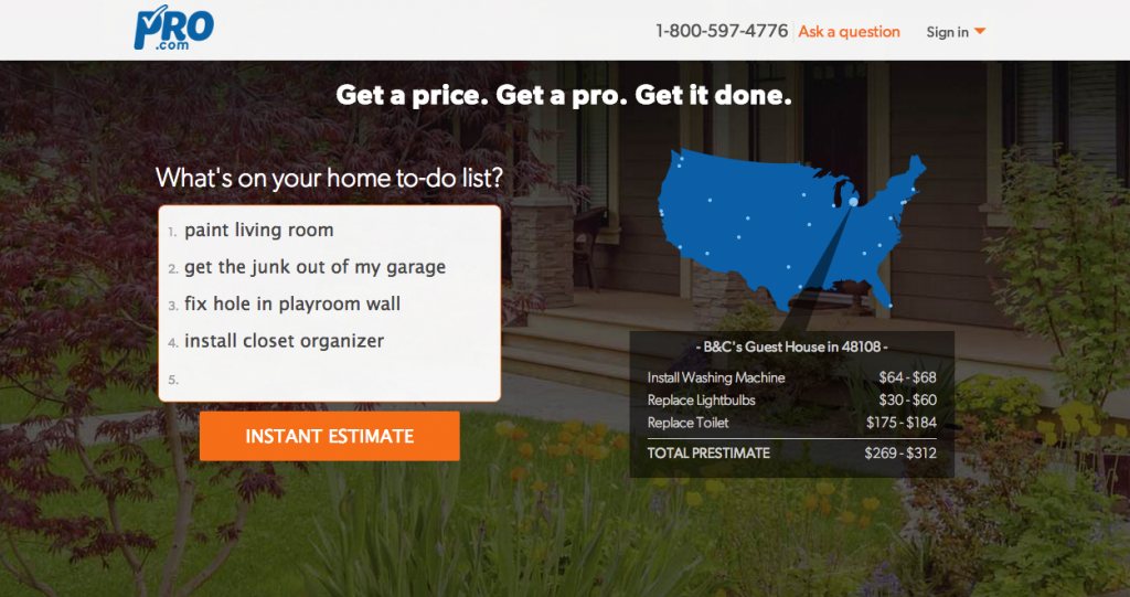 pro.com home with list1