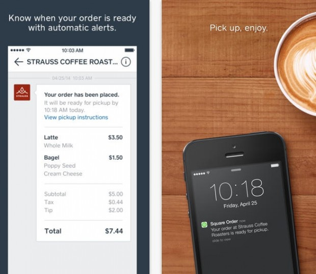 Square's new Order application lets you place orders in advance.