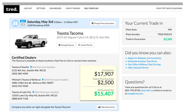 Test drives from your home tred raises cash expands with for House trade in program