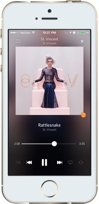 Rdio's iOS app, built using Xamarin